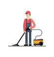 Cleaning company service Cleaner vector image vector image