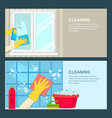 cleaning service banner template window vector image vector image