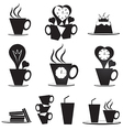 Coffee break icons set vector image