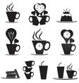 Coffee break icons set vector image vector image