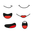 collection cartoon mouthes express emotion vector image vector image