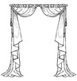 curtains vector image vector image