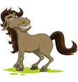 cute horse smiling vector image vector image