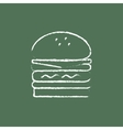 Double burger icon drawn in chalk vector image