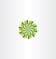eco light green arrow circle icon vector image