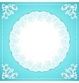 Elegand turquoise vintafe floral frame vector image vector image