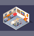 ethnic museum isometric composition vector image vector image