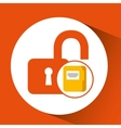 file document folder archive safety padlock vector image vector image