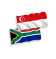 flags republic south africa and singapore on vector image vector image