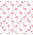 flamingo seamless pattern pink standing vector image vector image