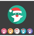 Flat Santa Claus christmas icon vector image vector image