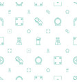 fortune icons pattern seamless white background vector image vector image