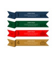 four banners of different colors vector image vector image