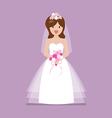 Girl in bride dress vector image