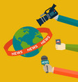global news coverage journalism concept vector image vector image