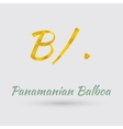 Golden Symbol of the Panamanian Balboa vector image vector image