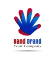 Hand logo People teamwork icon Education vector image vector image
