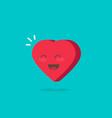 happy cheerful heart isolated vector image