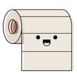 kawaii roll paper towel in colorful watercolor vector image vector image