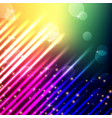 light with bokeh background with rainbow color vector image