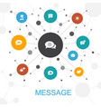message trendy web concept with icons contains
