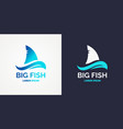 modern logo for sea fishing vector image vector image