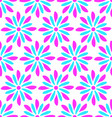 modern seamless pink blue flower doodle pattern vector image vector image