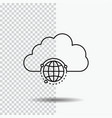 network city globe hub infrastructure line icon vector image