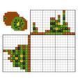paint number puzzle nonogram kiwi vector image vector image