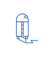 paper knife line icon concept paper knife flat vector image