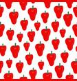 pepper vegetables seamless pattern on white vector image