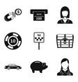 pillage icons set simple style vector image vector image