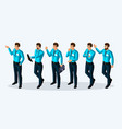 quality isometry 3d men corporate lifestyle vector image vector image