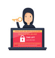 ransomware malware wannacry risk symbol hacker vector image vector image