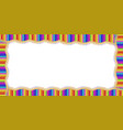 rectangle border made of multicolored wooden vector image