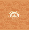 seamless pattern and emblem for pizzeria vector image