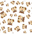seamless pattern of dogs vector image