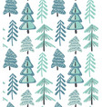 seamless pattern with winter fir forest vector image vector image