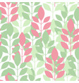 seamless plant pattern of leaves shoots vector image vector image