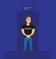 security on exit of night club safety vector image vector image