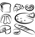 set of baking items vector image vector image