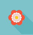 six petals red flower icon vector image vector image