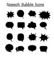 speech bubble icon set vector image vector image