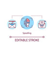 spoofing attacks concept icon vector image