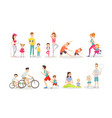 sport activity flat set vector image