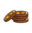 stack coins money icon isolated design shadow vector image