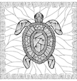 Stylized turtle style zentangle vector image