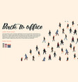 template with people going to work vector image vector image