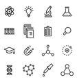 thin line icons - science vector image vector image