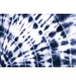 tie dye circle shibori indigo blue navy white vector image